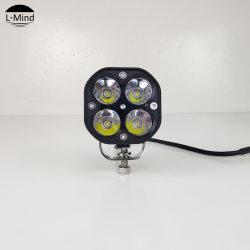 卸し売り自由な出荷のMotoは十字のバイクランプのオートバイ40Wのクリー族LED働くライトを分ける