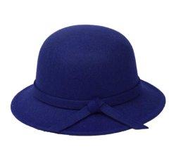 Стильный Vintage зимней женской теплой короткого края шерсть считает Два голоса колокола Red Hat пустым оптовая торговля