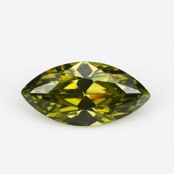 زبرجد [مرقويس] شكل [510مّ] حجر كريم خرزة تكعيبيّ زركونيوم [كز] يحلّ حجارة ماس