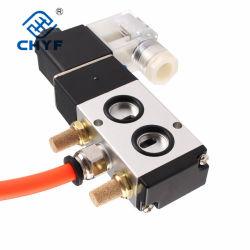 Fabricant de pneumatiques de la Chine fournisseur Type de plaque de la série 4M bobine double commande du solénoïde de soupape d'air