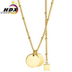 Las letras disponibles con accesorios personalizados colgante de perlas doble