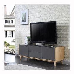 TV 캐비닛 현대식 TV 테이블 Sgbq006A 거실 가구 목재 TV 스탠드