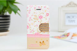 iPhone5/5s Small Freshのための金属Diamond Leather Cell Phone Cover