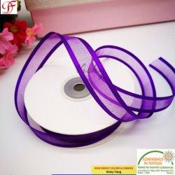 En nylon avec bord en satin organza Ribbon pour la décoration/cheveux/arcs d'enrubannage