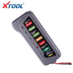 Comprobador de baterías de coche alternador Digital Tester 6 luces LED Coche Mostrar Comprobador de baterías automático de herramienta de diagnóstico OBD2 Accesorios para autos