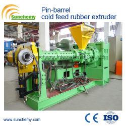 Máquina de goma/Pin-Barrel alimentación frío de la extrusora de caucho