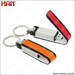Le métal en cuir véritable lecteur Flash USB (HAN-L39)