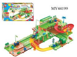 B-/obahnauto-Spielwaren, Baustein-Schienen-Zug, elektrischer Spielzeug-Zug (MY44199)