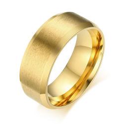 Moulage de haute qualité placage or Ring Bague Bijoux en acier inoxydable de gravure Accessoires de mode
