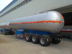 Hot Sale 3 essieux 55000 litres durable semi-remorque tanker GPL