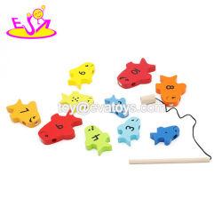 Neuer Entwurfs-magnetisches hölzernes Fischen-Spiel-Spielzeug für Kinder W01b088