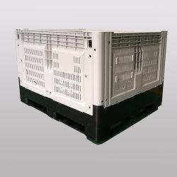 청과를 위한 큰 플라스틱 깔판 상자 궤를 접히는 HDPE