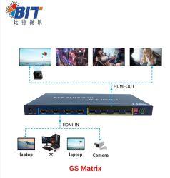 Der Matrix-4 der Kanal-HDMI Rangierlok Video-Audiorangierlok-volldigitale 4K