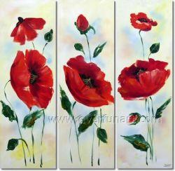 Handgemachtes Blüten-Blumen-Gruppen-Ölgemälde (FL3-158)