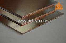 Extérieur intérieur 3 mm à 4mm 25mm 10mm 20mm oxydé patine Laiton naturel Fr retardateur de feu panneau composite de cuivre ignifugé Honeycomb pour revêtement de façade
