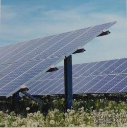 en la planta de energía solar de la red