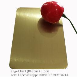 1mm starker Champagne Farben-Edelstahl aufgetragenes Blatt-Preis-dekoratives Metallplatten