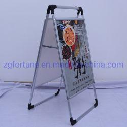 Los dos lados de un marco de aluminio cartel cartel exterior Soporte Soporte Soporte