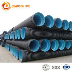 Polietileno de alta calidad de plástico HDPE ondulado de doble pared (DWC) Tubo espiral de aguas residuales para el drenaje