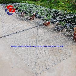 洪水制御のための頑丈な折りたたみ六角形のGabionの網の塀