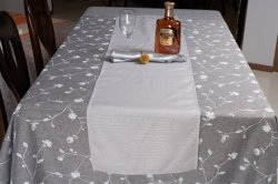 Hotels를 위한 둥근 White Polyester Cotton Banquet Wedding Linen Hotel Table Cloth Tablecloth
