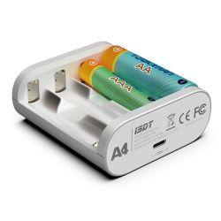Isdt A4 10W 1.5A AA AAA 배터리 충전기 DC 10500 12500 건전지를 위한 지능적인 배터리 충전기 단위