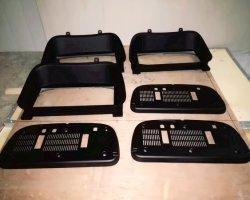 Spritzen zerteilt schwarze Plastikschutzkappen schwarze ABS materielle Spritzen-Plastikselbstpräzisions-nach Maß Bauteile