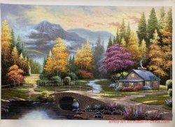 Подробные сведения о Thomas Kinkade большой сад картины маслом на холсте