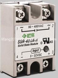 SSR-40da-H 의 Sigle 단계 반도체 계전기, 3-32VDC/90-480VAC 의 세륨은 반도체 계전기를 증명했다