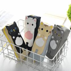 Últimos artículos de papelería diseño lindo gato caja caja de lápices de lona