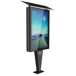 L'énergie solaire de la publicité Outdoor poubelle Affichage boîte lumineuse à LED