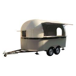 Camion mobile dell'alimento della via/alimenti a rapida preparazione che cucinano il Crepe del rimorchio dell'alimento del camion