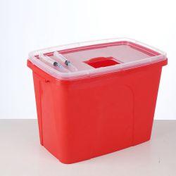 8L de plástico descartáveis médicos Biohazard Sharp recipientes, contentores afiadas