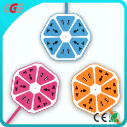 Wand-Kontaktbuchse-intelligente Kontaktbuchse USB-Arbeitsweg-Minifrucht-Farben-Stecker-Anschluss-Netzkabel-Extensions-spezielle Entwurfs-Frucht-Kontaktbuchse-runde Kontaktbuchse