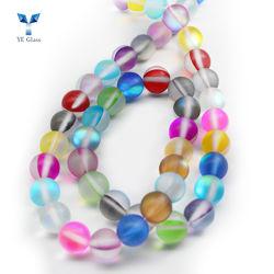 Mistura de cor Mermaid Esferas de vidro Pearl cordões para decorar