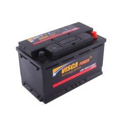 12 فولت/80 أمبير في الساعة DIN80 MF Automotive/Car-Battery Best سعر الجملة Maintenance-Free SLA/Cمحكمة الغلق-الرصاص-حمض السيارة/الشاحنة/السيارات طاقة Visca للبطارية