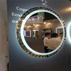 Wand beleuchtete magisches intelligentes Spiegel-silbernes Glasbadezimmer-dekorativen Verfassungs-Spiegel des Spiegel-Noten-Fühler-LED