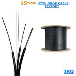 prix d'usine Outdoor 1, 2, 4 coeurs monomode G657D'un FRP à fibre optique FTTH plat câble de descente