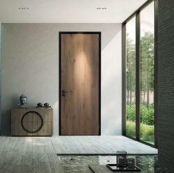Алюминиевая рама составные деревянные двери в ванной комнате