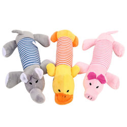 Interactieve Animal Shape Sound Pet Dog Chew Squeaky Plush Toys