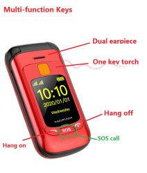 Metal Flip altos teléfono T899 Teclado grande Ancianos Sonido// hombre Celular padres