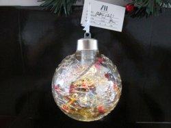 2021 a esfera de vidro com luz LED de madeira e decoração interior