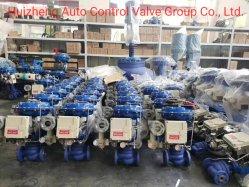 La válvula reguladora Single-Seat neumático fabricado en acero al carbono de la válvula de control/