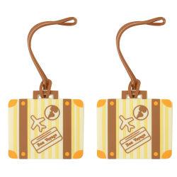 Индивидуальный логотип Pomotional подарок ПВХ багажа Tag сумка багажная бирка Tag индивидуальный логотип Pomotional свадебный подарок тег багажного отделения