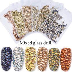 1440PCS/Bag all'ingrosso ha mescolato la decorazione del Rhinestone di bellezza di arte del chiodo di formati, rifornimenti di pietra del chiodo dei prodotti del manicure