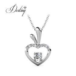 18K 金めっきされた宝石類は高いと Apple のペンダントのネックレスを愛する 高品質なクリスタル