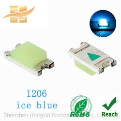 1206 Ice Blue Chip SMD LED SMD con lente