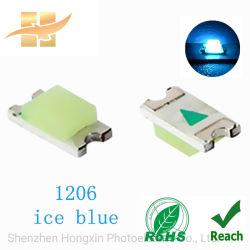 レンズSMDとの1206淡青色チップSMD LED