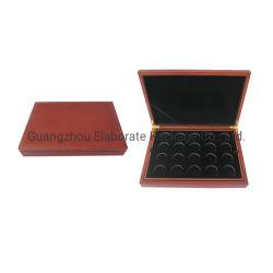 La collecte de bois de gros de pièces d'or Médaille de cas/Badge/coin souvenirs boîte avec 20 emplacements