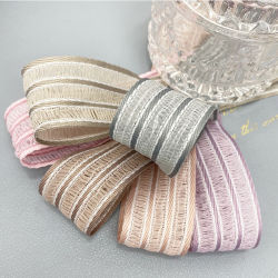 2021 Großhandel Mode Polyester Streifen Band Custom Garment Knit Woven Jacquard-Band Mit Band